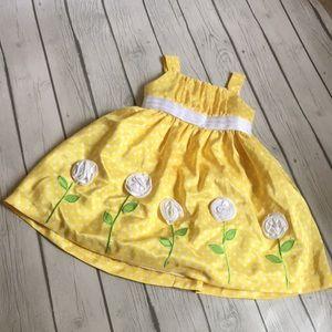 American Princess yellow flower dress